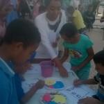 قصبة الفنان في ورشة للأطفال ضمن برنامج الملتقى الدولي لقصبة الفنان بقلعة مكونة