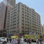 الدفاع المدني يخلي فندقا في مكة بعد حريق تسبب باختناق 3 حجاج