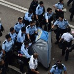 Hong Kong protests: Admiralty site being cleared