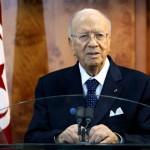 الرئيس التونسي الباجي قائد السبسي يعلن حالة الطوارئ في البلاد