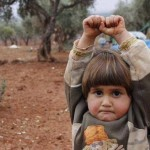 What has terrified the little Syrian girl?