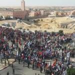 مسيرة سلمية بقلب عيون الساقية الحمراء تنديدا بالانزلاقات اللفظية الخطيرة للامين العام للامم المتحدة