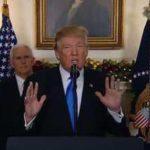 كلمات ترامب الأخيرة من خطاب القدس تفجر عاصفة من التساؤلات